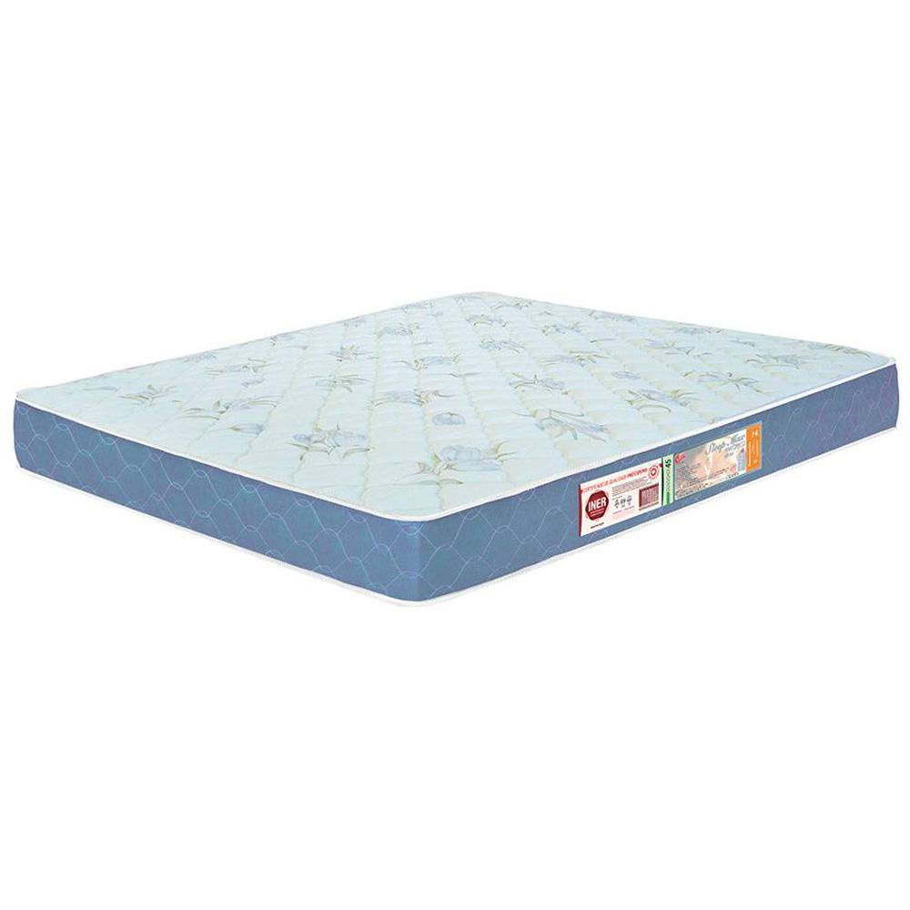 Colchão Box King Size Castor Espuma D45 Sleep Max 18cm Azul