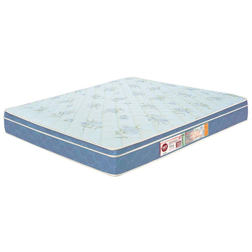 Colchão Box King Size Castor Espuma D45 Sleep Max 25cm Azul