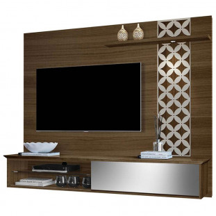 Painel Home Para Tv Com Led 100% Mdf Versalio Luapa Amendoa Off White