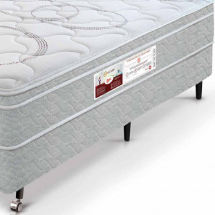 Cama Box + Colchão Box King Size Castor S&R Victory One Face 66 x 193 x 203
