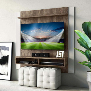 Painel Home Para Tv 42 Polegadas Flex Linea Brasil Capri Rústico/Off White