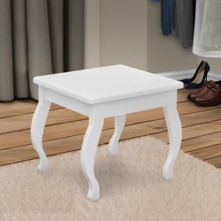 Cadeira Para Penteadeira Camarim Branco MDF Seul Luapa