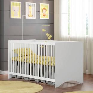 Berço Para Bebe Branco Estrela Gutti