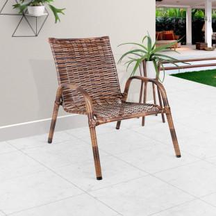 Cadeira Para Area Externa Junco Marrom JM