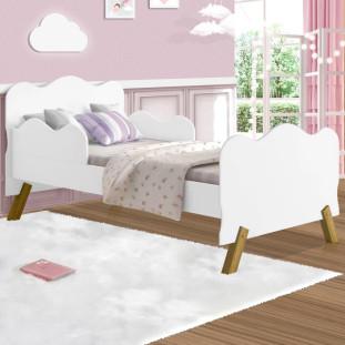 Cama Infantil Com Proteção Lateral Nuvem Branca Angel Cambel