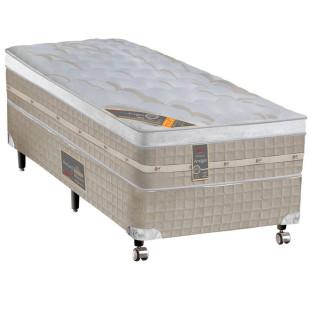 Cama Box + Colchão Solteiro Castor Premium Amazon One Face Bege 78 X 188 X 72