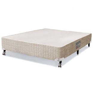 Cama box para Colchão Casal Castor Premium bege 128 x 188 x 27