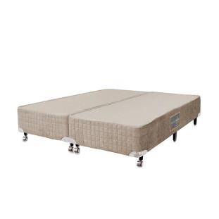 Cama box para Colchão Queen Size  Castor Premium bege 158 x 198 x 27