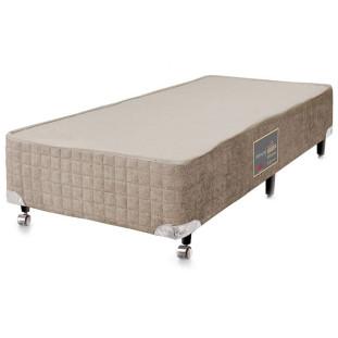 Cama Box Para Colchão Solteiro Castor Premium Bege 88 X 188 X 27