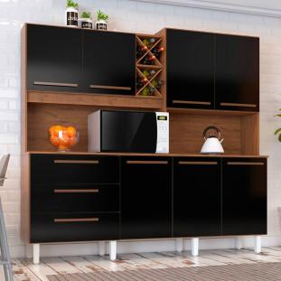 Cozinha Compacta Ajax Natura Preto Tx Zanzini