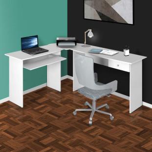 Mesa Para Computador Escrivaninha Completa Master Zanzini Branca