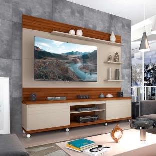 Estante Home Para Tv 65 Polegadas Cedro Off White Freijo