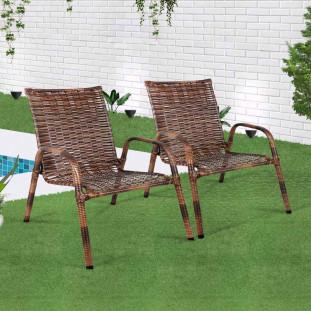 Conjunto De Cadeiras Para Area Externa Junco Marrom JM