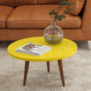 Mesa De Centro Legs Patrimar Amarela