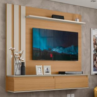 Painel TV 43 Polegadas Novare Off White Trend 1600 Patrimar