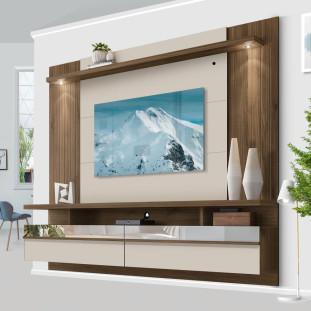 Painel Para TV 65 Polegadas Com LED Nogueira Off White São Luis 2.2