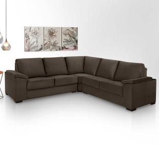 Sofa de Canto 4 Lugares Almofadado Turim Luapa Café A91
