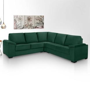 Sofa de canto 4 lugares almofadado Turim Luapa Verde A90