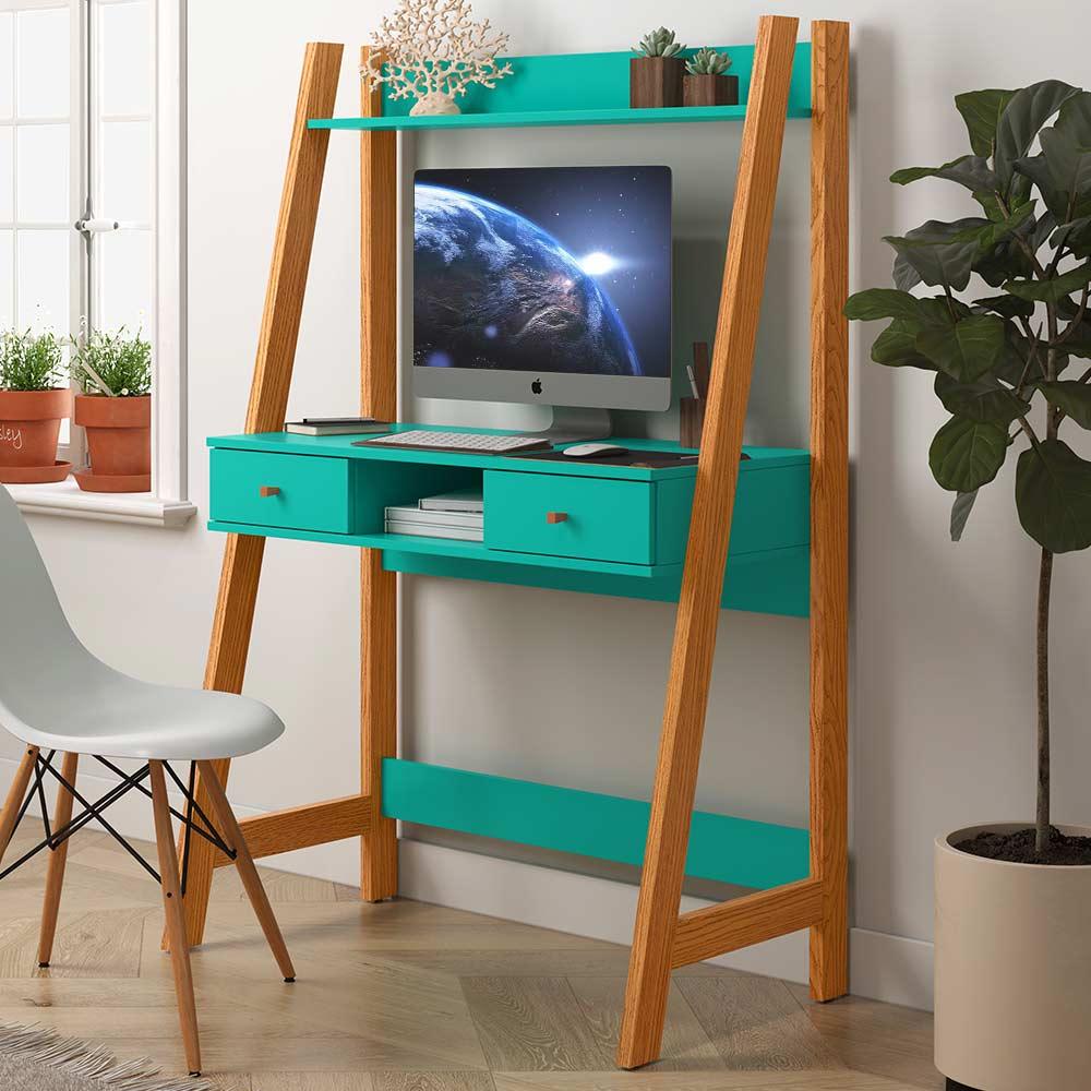 Escrivaninha Para Quarto Home Office Desk Nature Verde